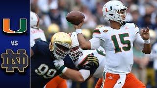 Miami vs. Notre Dame Football Highlights (2016)
