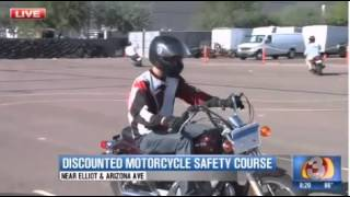 <h5>AMSAF Scholarships KTVK Channel 3</h5><p>News coverage of AMSAF announcement to begin state motorcycle scholarship training program.</p>