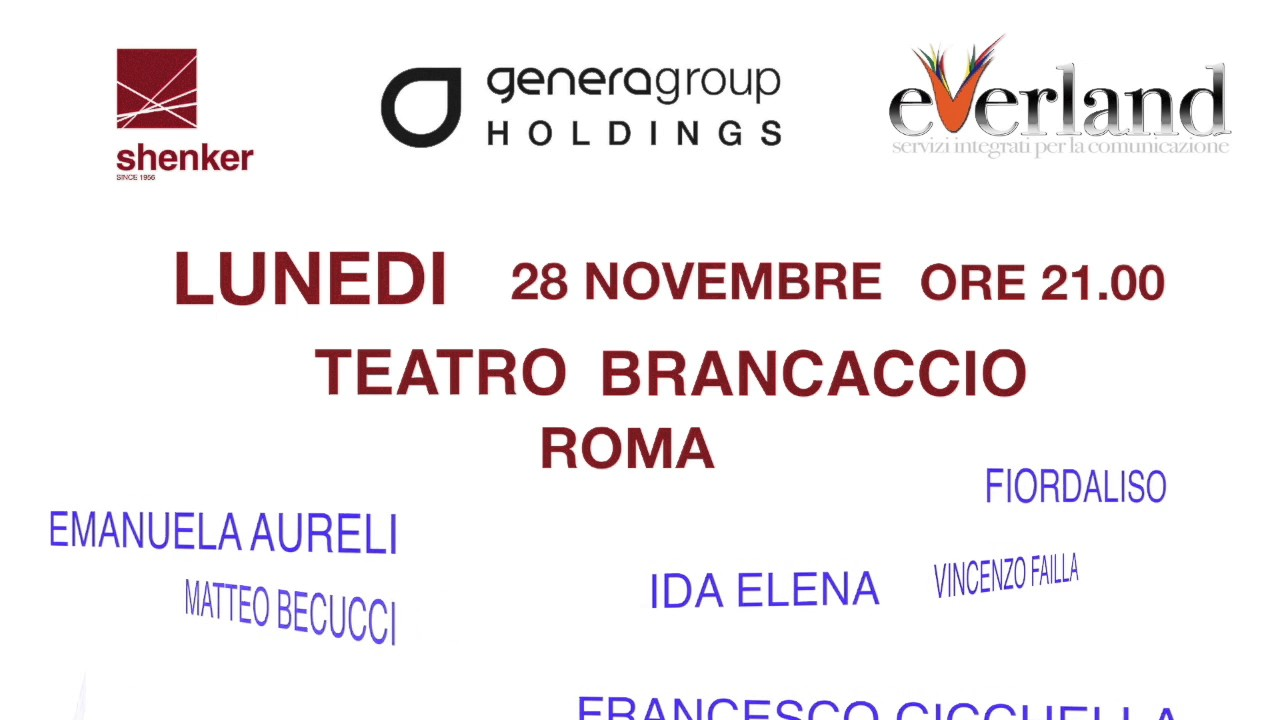 Everland e Genera Group il 28 novembre al Teatro Brancaccio con un evento unico a favore di  Save the Children