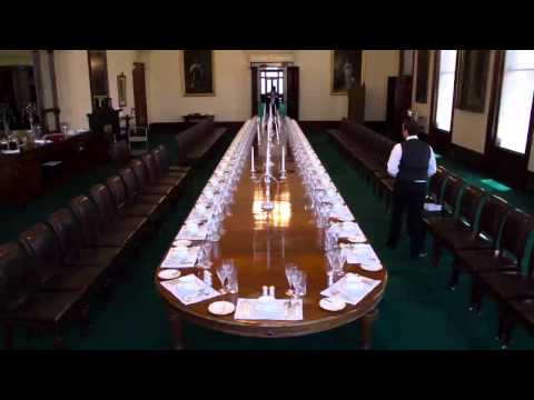 Timelapse of the State Dining Room Set Up