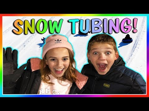 OUR FIRST TIME SNOW TUBING | We Are The Davises