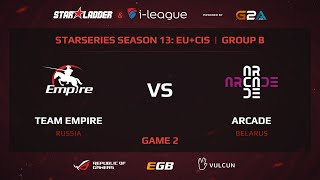 Empire vs Arcade, game 2
