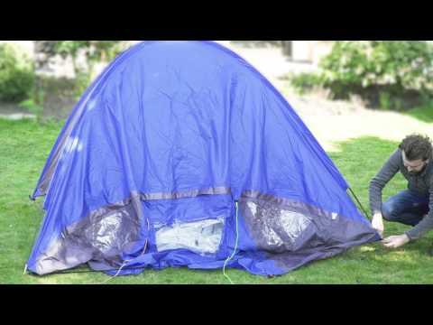 Tente dôme 4 places avec auvent