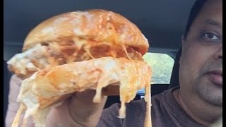 Video Eating Arby's Buttermilk Buffalo Chicken Sandwich and review MP3, 3GP, MP4, WEBM, AVI, FLV Juli 2018