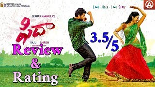 Fidaa Movie Review and Rating