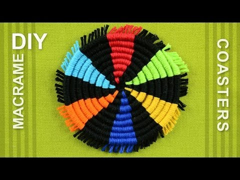 How to Make a Round Coasters / DIY Tutorial