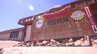 Driving to Pikes Peak in Colorado