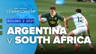 South Africa v Argentina Rd.2 2021 Rugby Championship video highlights