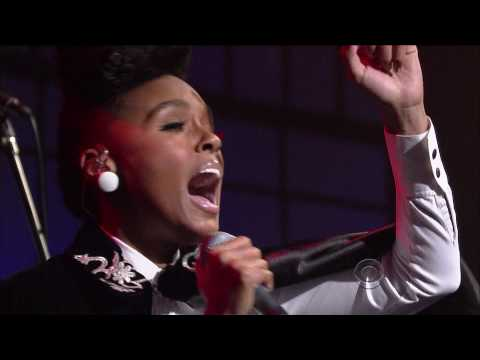 HIGH QUALITY Janelle Monáe - Tightrope (on David Letterman) HD 1080p 720p