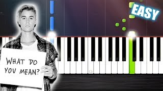 Justin Bieber - What Do You Mean - EASY Piano Tutorial  Ноты и М�Д� (MIDI) можем выслать Вам (Sheet