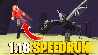 the Ender Dragon tried to ruin this top Minecraft Speedrun.. (Minecraft 1.16)