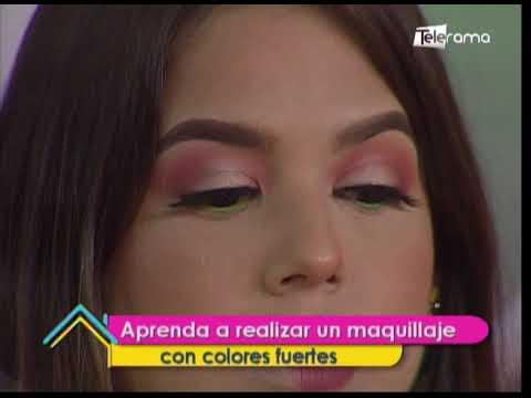 Aprenda a realizar un maquillaje con colores fuertes