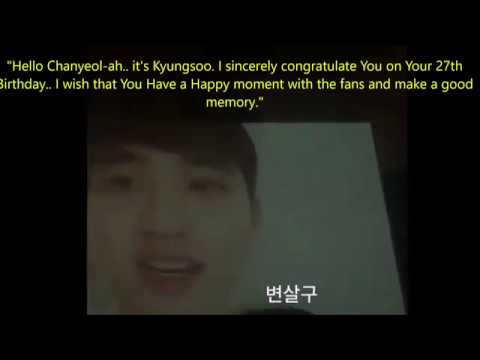 Birthday messages - 181127 EXO Message for Chanyeol Birthday Party (ENG SUB)