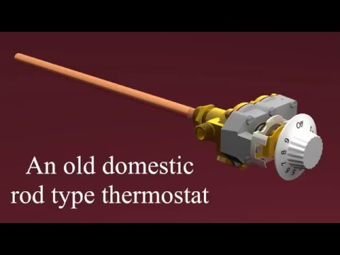 Gas rod type thermostat