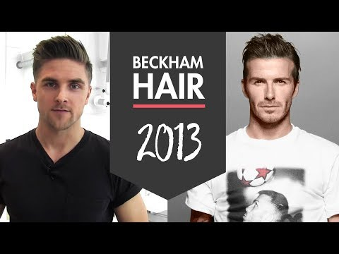 David Beckham H&M 2013 men's hairstyle - how to style inspiration - By Vilain hair products