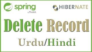 Tutorial 8 Delete record Entity Hibernate