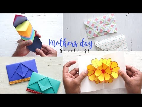 4 Beautiful And Easy Mother's Day Cards Ideas | Gifts For Mom