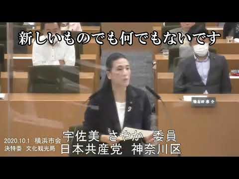 横浜のイメージを台無しにするIRカジノ 2020.10.1決特委 文化環境局審査 宇佐美さやか議員