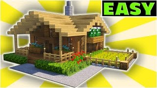 Minecraft Starter House Tutorial - [EASY] How to build a house IN MINECRAFT