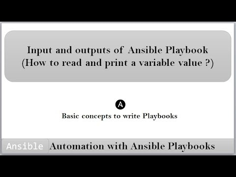 Ansible | Playbooks | How to read  and print a variable value using ansible playbook ? | DevOps