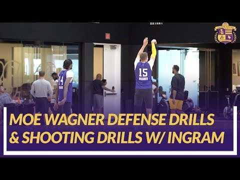 Video: Lakers Practice: Rookie Moe Wagner Back on Court Doing Defensive Drills And Shooting With Ingram