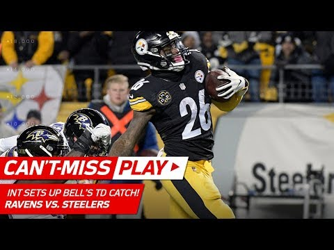 Video: Sean Davis' INT Off Flacco Sets Up Le'Veon Bell's TD Catch! | Can't-Miss Play | NFL Wk 14