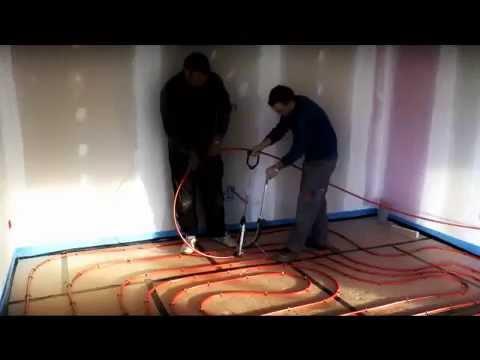 comment poser un plancher chauffant hydraulique