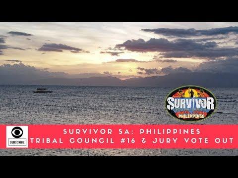 SURVIVOR SA PHILIPPINES TRIBAL COUNCIL #16 & JURY VOTE OUT