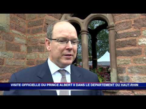S.A.S. le Prince Albert II poursuit sa visite officielle dans le Haut-Rhin