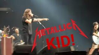 Video Foo Fighters cover Enter Sandman w/ 10 year old LIVE KC MP3, 3GP, MP4, WEBM, AVI, FLV Desember 2018