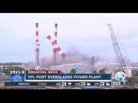FPL implodes power plant