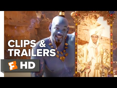 Aladdin ALL Clips + Trailers (2019) | Fandango Family