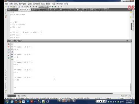 Intro to Ruby - Day 9 - Random numbers and access arrays