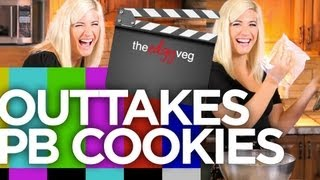 Vegan Peanut Butter Cookies Bloopers | The Edgy Veg