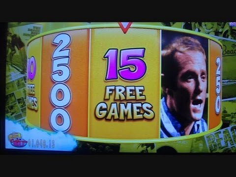 Beach Boys SLOT MACHINE Free Spins Bonus Round Win