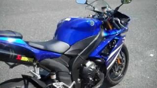 9. 2007 Yamaha R1 with Akrapovic Carbon Fiber Slash Cut Slip-On Exhaust