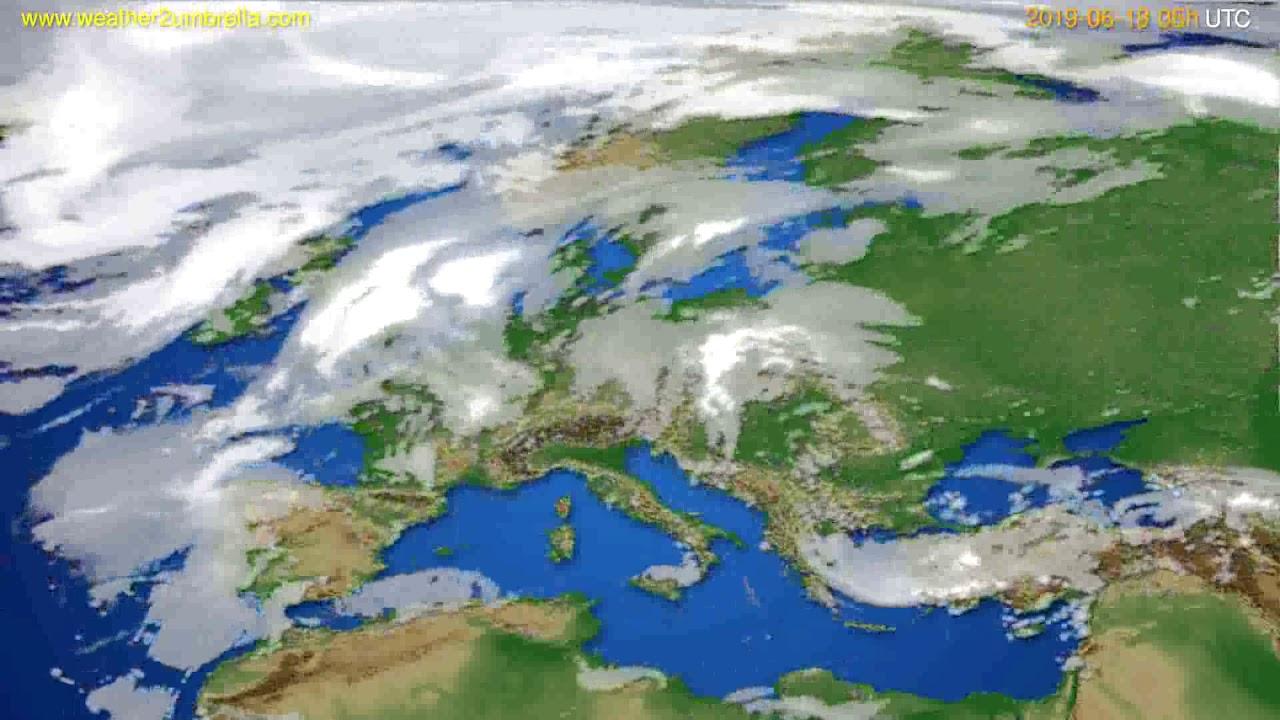 Cloud forecast Europe // modelrun: 12h UTC 2019-06-16