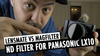 Lensmate sent me their filter adapter for the Panasonic LX10/LX15, so I could demonstrate how it works and compare it to the ...