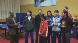 Kremlin Bicetre France  City pictures : Tennis de Table Kremlin Bicetre contre Sélection France