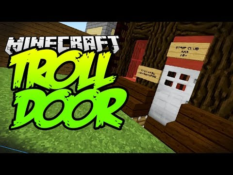 Minecraft 1.8 Tips & Tricks – The Troll Door – PRANK YOUR FRIENDS!