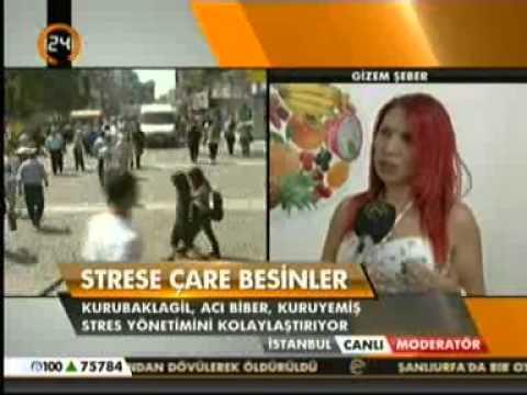 Diyetisyen ve Yaşam Koçu Gizem ŞEBER; Kanal 24 Moderatör programında strese iyi gelen besinleri anlattı.