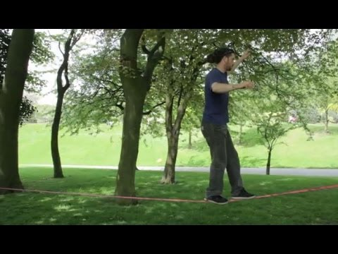 Alexander Stelfox (24) from Huddersfield is campaigning to show the mental and physical benefits of slacklining.