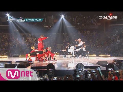 GOT7(갓세븐) VS MONSTA X(몬스타X) - Dance Battle M COUNTDOWN - FEELZ In LA 150813 EP.437