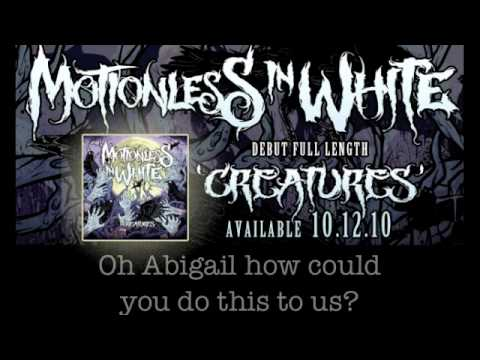 Motionless In White - Abigail (w/ Lyrics)