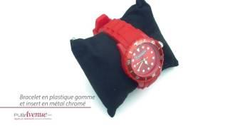Montre personnalisée bracelet gomme