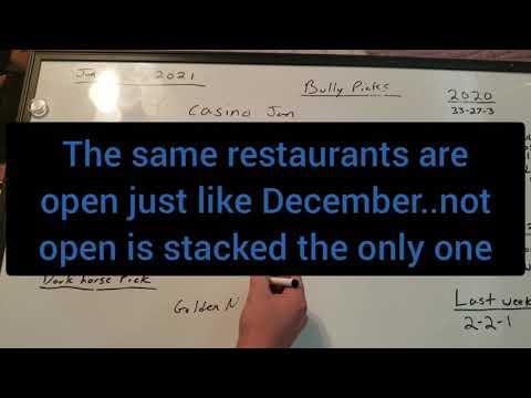 January 2021 Biloxi and New Orleans Casino update