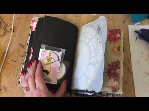 Junk Journal for LA Cemetery Girl and dia de Los Muertos crafts