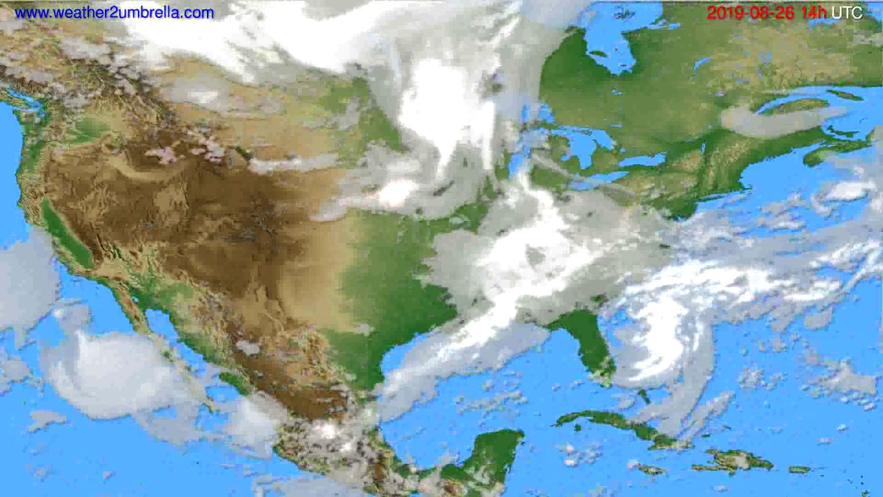 Cloud forecast USA & Canada // modelrun: 00h UTC 2019-08-24