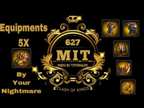 Clash Of Kings (COK) - How To Get Easy 5X Equipments