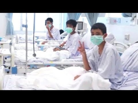 Thai cave rescue: Officials release 1st video of rescued boys in hospital (видео)